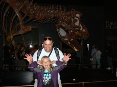 Ben and Raegan in the museum