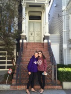 "In front of the real ""Full House"" house"